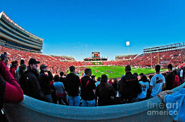Photograph - Fish-eye View Of The Jones Stadium by Mae Wertz