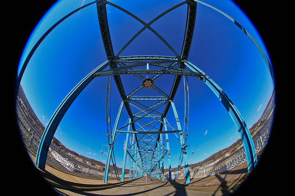 Photograph - Fish Eye View Of Walnut Street Bridge by Tom and Pat Cory