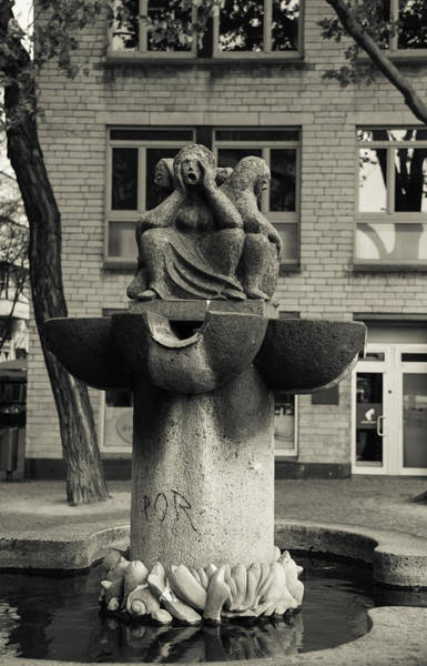 Germania Photograph - Fish Fountain Cologne by Teresa Mucha