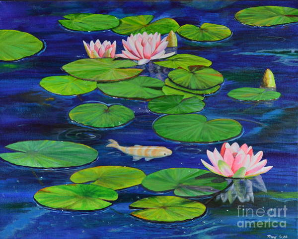 Painting - Tranquil Pond by Mary Scott