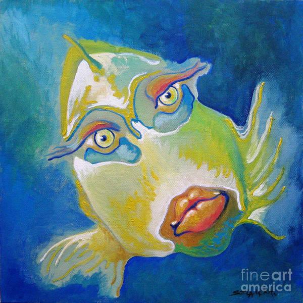 Painting - Fish Lady by Alexa Szlavics