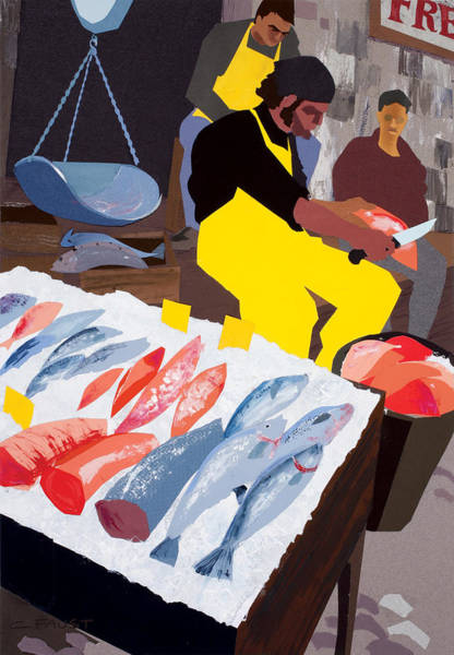 Mixed Media - Fish Market by Clifford Faust