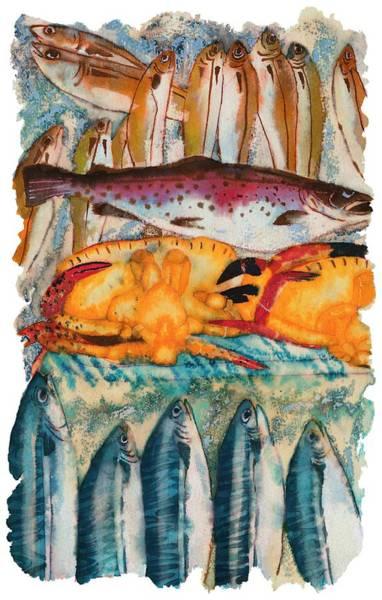 Fish Market Art Print by Tess Stone