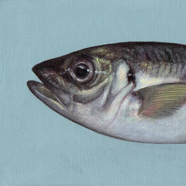 Blue Fish Painting - Fish No.3 by Kazumi Whitemoon