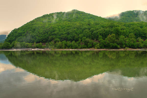 Photograph - Fish Reflection Where The Kanawha Begins by Paulette B Wright
