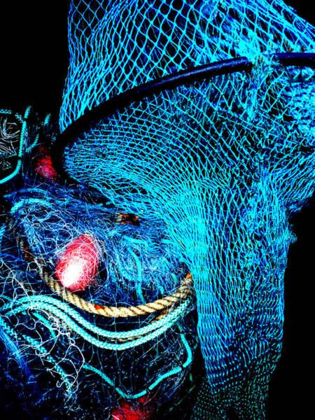 Photograph - Fish Robe Net Play  by Colette V Hera  Guggenheim