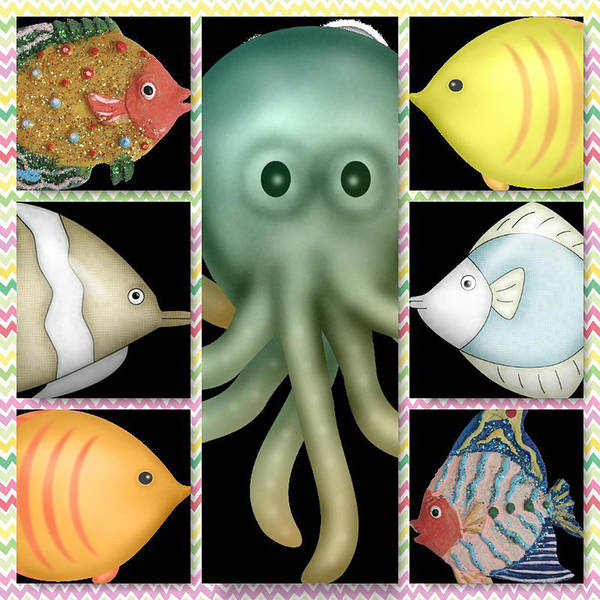 Digital Art - Fish Stories  by Debra  Miller