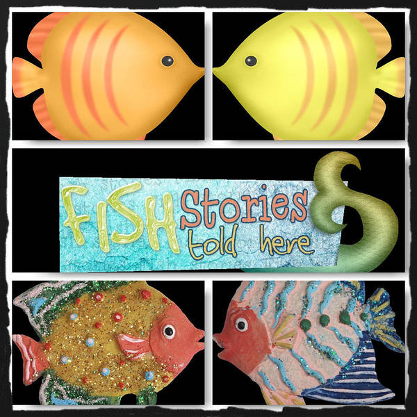 Digital Art - Fish Stories Told Here by Debra  Miller