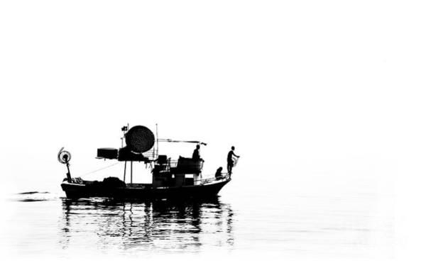 Turkiye Wall Art - Photograph - Fisher Boat by Leyla Ismet