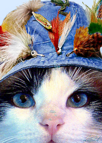 Wall Art - Mixed Media - Fisher Cat by Michele Avanti