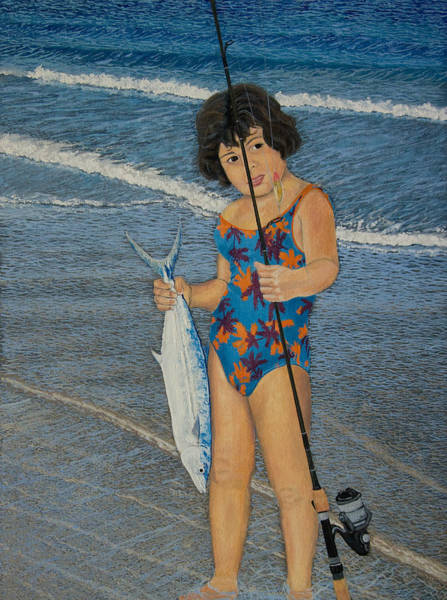Manuel Wall Art - Painting - Fisher Girl by Manuel Lopez