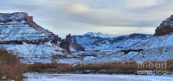 Fisher Towers Photograph - Fisher Towers Panorama by Adam Jewell