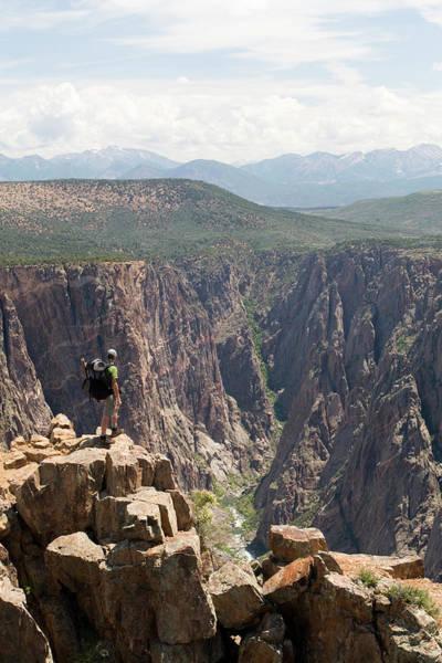 Angling Photograph - Fisherman Above The Black Canyon by Chris Giles