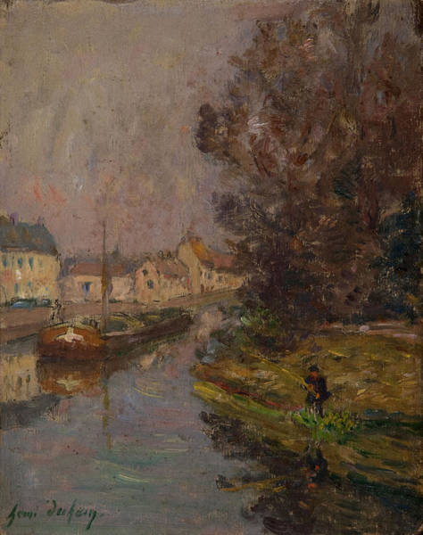 Angler Wall Art - Painting - Fisherman At Douai  by Henri Duhem