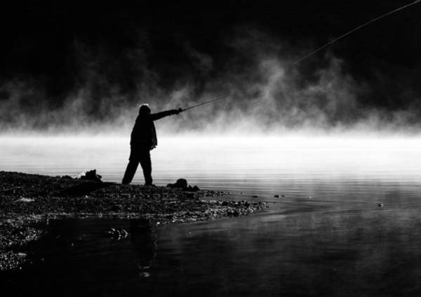 Photograph - Fisherman Casting by Priya Ghose