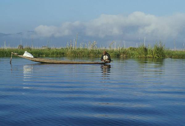 Fisherman On The Inle Lake Art Print