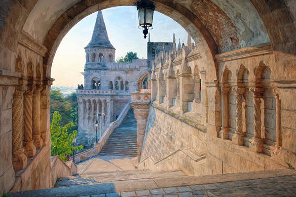 Photograph - Fisherman's Bastion Budapest II by Joan Carroll