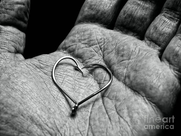 Anguish Photograph - Fisherman's Heart by Sinisa Botas