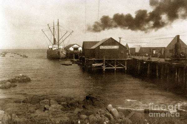 Photograph - Fishermans Wharf Monterey Circa 1920 by California Views Archives Mr Pat Hathaway Archives