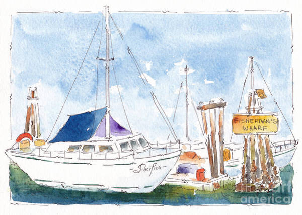 Painting - Fisherman's Wharf by Pat Katz