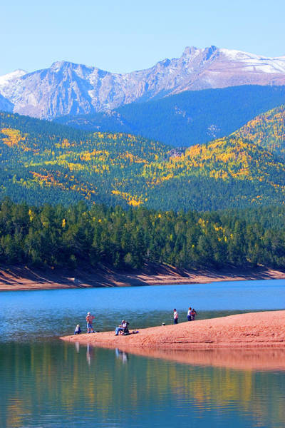 Fly Fishermen Photograph - Fishermen At Crystal Lake On Pikes Peak by Swkrullimaging