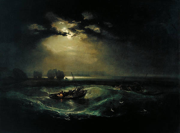 Painting - Fishermen At Sea by Celestial Images
