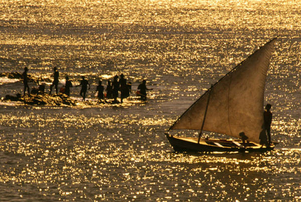 Angling Photograph - Fishermen On Land And Sea by Per-Andre Hoffmann