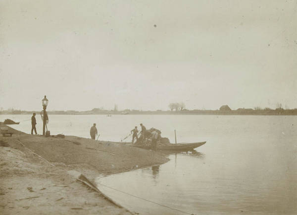 River Bank Drawing - Fishermen On The Bank Of A River, Henry Pauw Van Wieldrecht by Artokoloro