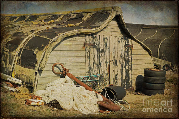 Photograph - Fishermen's Huts On Holy Island 2 by David Birchall