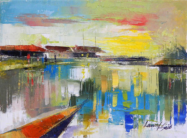 Lagos Painting - Fishers Haven by Said Oladejo-lawal