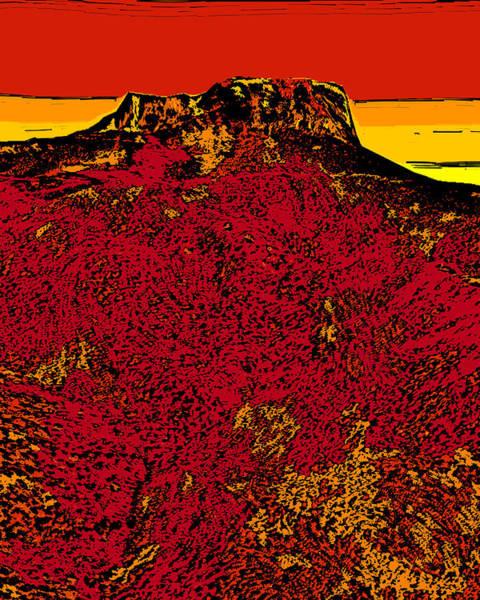 Wall Art - Digital Art - Fishers Peak - Colorado by David G Paul