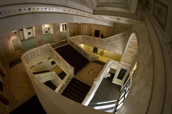 Photograph - Fisheye View Of Grand Marble Stairs by Sven Brogren