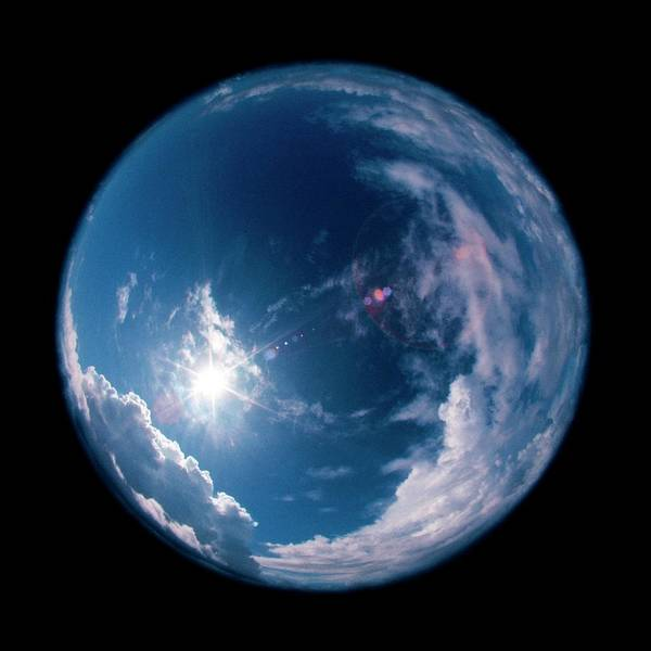 Fish Eye Lens Photograph - Fisheye View Of Sky by Ron Reid/science Photo Library