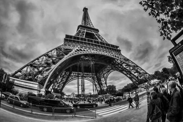 Photograph - Fisheye View Of The Eiffel Tower by Sven Brogren