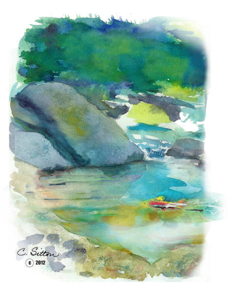 Painting - Fishin' Hole by C Sitton