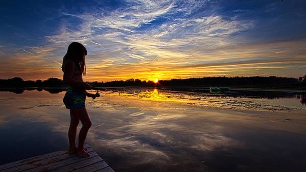 Photograph - Fishin On Lake George by Phil Koch