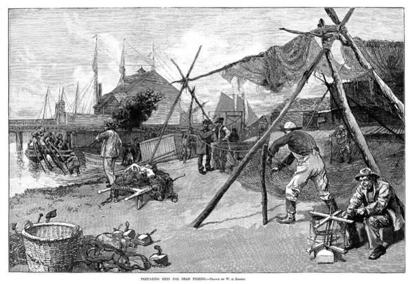 Drawing - Fishing, 1889 by Granger