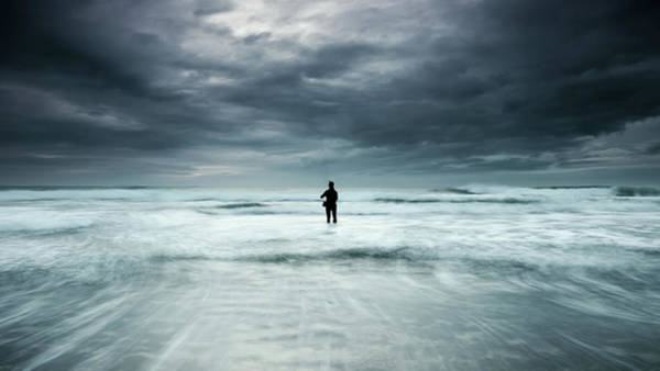 Alone Photograph - Fishing A Dream by Paulo Dias