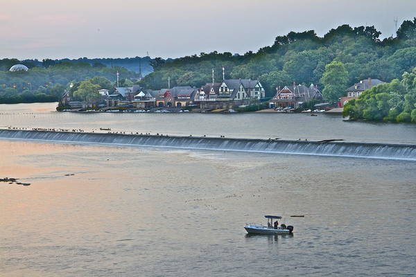 Photograph - Fishing At Boathouse Row by Alice Gipson