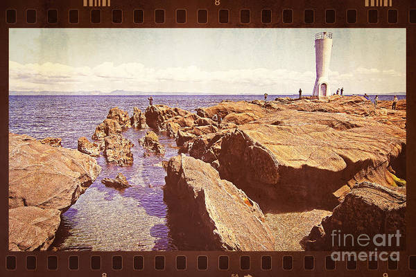 Photograph - Fishing At Noon By The Lighthouse by Beverly Claire Kaiya