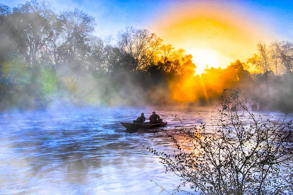 Photograph - Fishing At Sunrise On The Flint River by Mark Tisdale