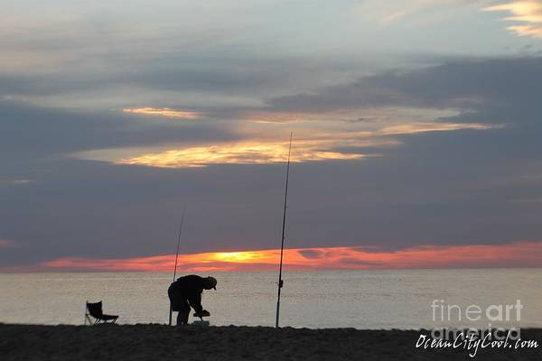 Photograph - Fishing At Sunrise by Robert Banach