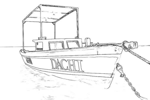 Sketch Holiday Photograph - Fishing Boat Dachi Of The Caribbean  by David Letts