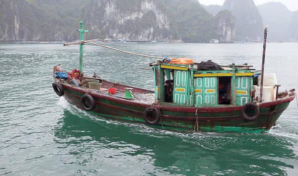 Fishing Boat Photograph - Fishing Boat, Halong Bay, Vietnam by Cormac Mccreesh