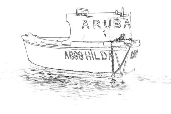 Sketch Holiday Photograph - Fishing Boat Hilda Of The Caribbean by David Letts