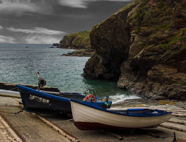 Lizard Photograph - Fishing Boat Launch The Lizard by Martin Newman