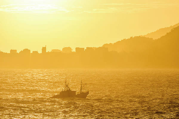 Wall Art - Photograph - Fishing Boat Returning To Port by Vitor Marigo