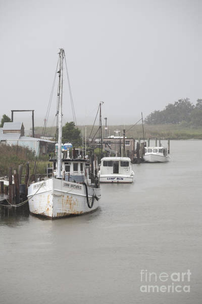 Photograph - Fishing Boats Along The Docks On Tilghman Island On The Chesapeake Bay In Maryland. by William Kuta