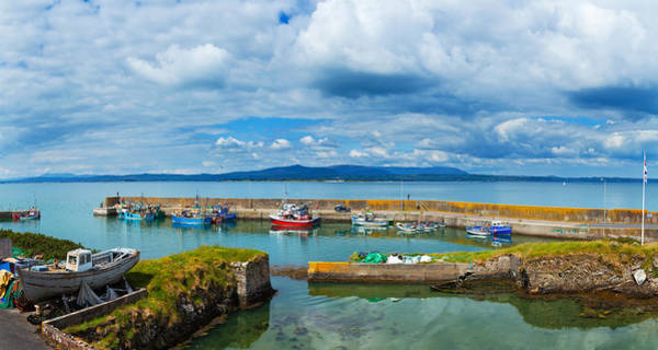 County Waterford Photograph - Fishing Boats At A Harbor, Helvick by Panoramic Images