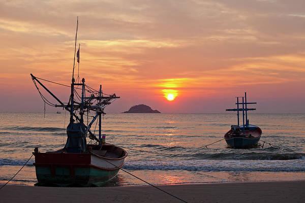 Fishing Boat Photograph - Fishing Boats At Dawn by Enviromantic